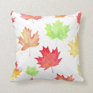 Watercolor Fall Maple Leaf Cushion