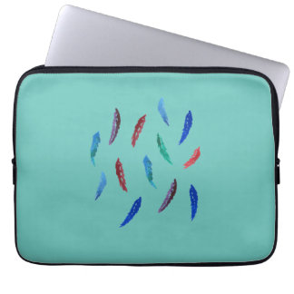 Watercolor Feathers 13'' Laptop Sleeve