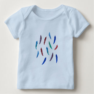 Watercolor Feathers Baby Lap T-Shirt
