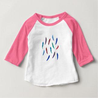 Watercolor Feathers Baby Raglan T-Shirt