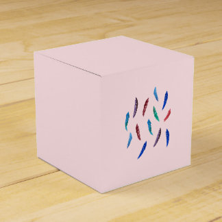 Watercolor Feathers Classic Favor Box