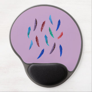 Watercolor Feathers Gel Mousepad Gel Mouse Mat