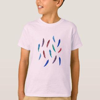 Watercolor Feathers Kids' Cotton T-Shirt