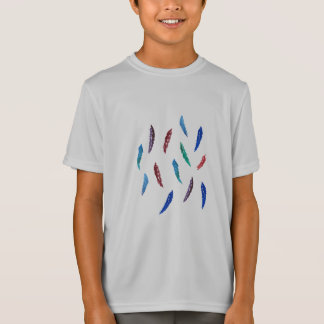 Watercolor Feathers Kids' Sports T-Shirt
