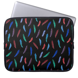 Watercolor Feathers Laptop Sleeve 15''