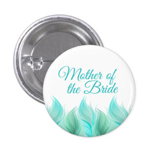 Watercolor Feathers Mother of the Bride 3 Cm Round Badge