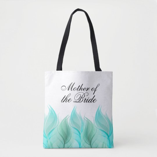 Watercolor Feathers Mother of the Bride Tote Bag