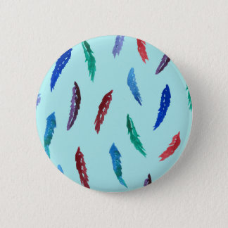 Watercolor Feathers Standard Round Button