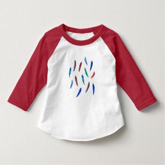 Watercolor Feathers Toddler Raglan T-Shirt