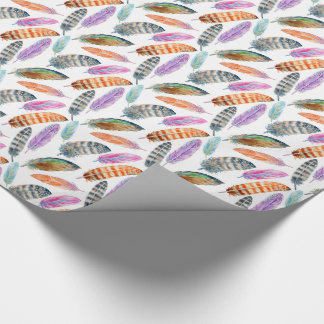 Watercolor Feathers Wrapping Paper