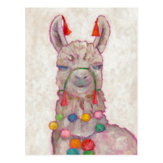 Watercolor Festival Llama Postcard