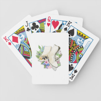 Watercolor Figure Skates Custom Giftware Bicycle Playing Cards