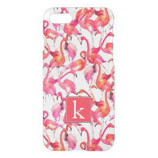 Watercolor Flamingo In Watercolors | Add Your Name iPhone 8/7 Case