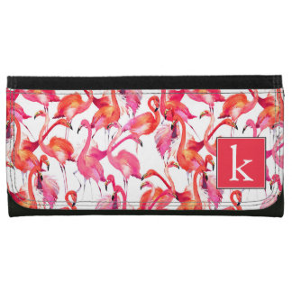 Watercolor Flamingo In Watercolors | Add Your Name Wallet