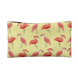 Watercolor Flamingo Pattern Cosmetic Bag