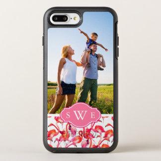 Watercolor Flamingos| Add Your Photo & Monogram OtterBox Symmetry iPhone 7 Plus Case