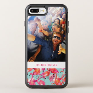 Watercolor Flamingos | Add Your Photo & Text OtterBox Symmetry iPhone 8 Plus/7 Plus Case