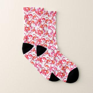 Watercolor Flamingos In Watercolors Socks