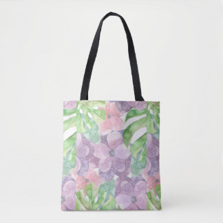 Watercolor Floral All-Over-Print Tote Bag