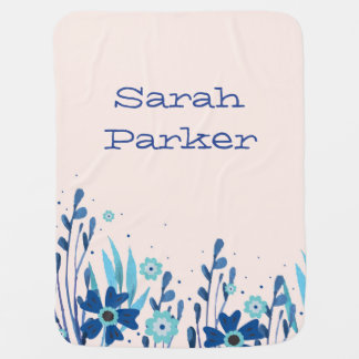 Watercolor Floral Baby Blanket