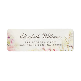 Watercolor Floral Boho Return Address Labels