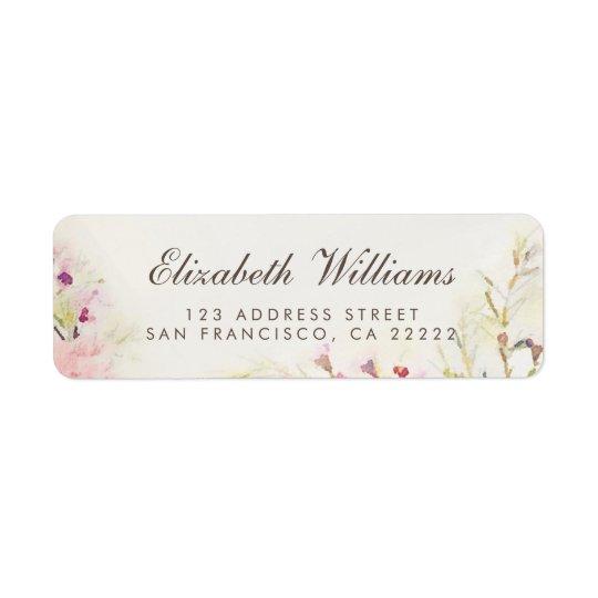 Watercolor Floral Boho Return Address Labels
