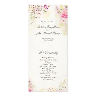 Watercolor Floral Boho Wedding Program Rack Cards
