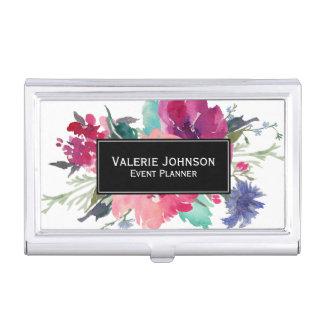 Watercolor Floral Bouquet Business Card Holder