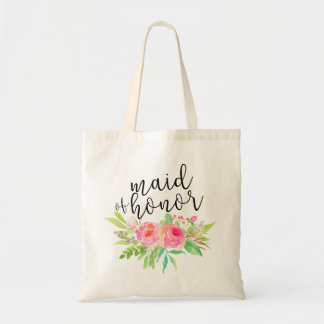 Watercolor Floral Bouquet Maid of Honor