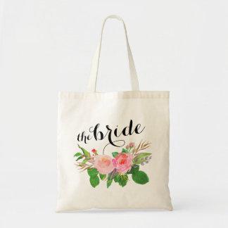watercolor floral Bouquet  the bride Tote Bag