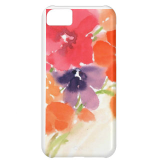 watercolor floral cover for iPhone 5C