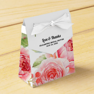 Watercolor Floral design Bridal Shower Favor Boxes