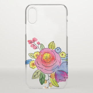 Watercolor floral design iPhone x case