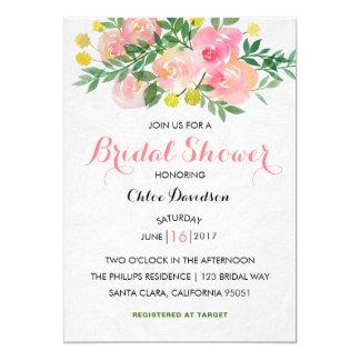 Watercolor Floral Garden Bridal Shower invitation
