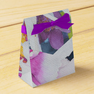 Watercolor Floral Gift Box Wedding Favour Boxes