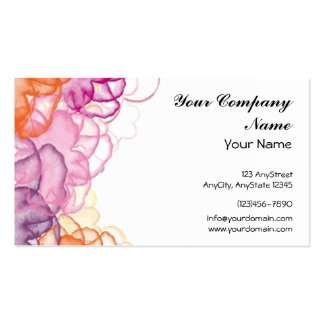Watercolor Floral in Pink, Purple, and Orange Business Cards