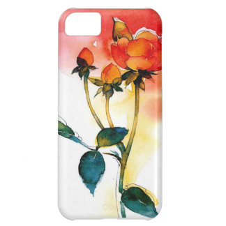 watercolor floral iPhone 5C cover