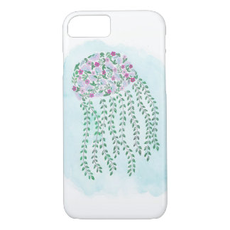 Watercolor Floral Jellyfish Phone Case