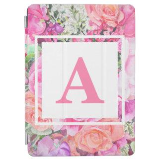 Watercolor Floral Monogram iPad Case iPad Air Cover