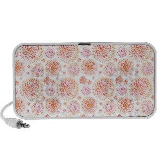 Watercolor floral pattern delicate flowers travel speaker