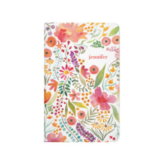 Watercolor Floral Personalized Pocket Journal