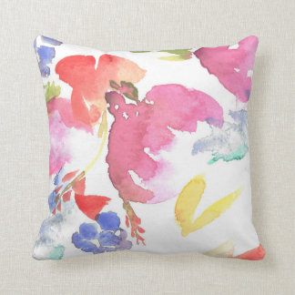 Watercolor Floral Pillow. Different Sizes. Throw Pillow