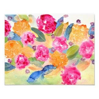 Watercolor floral print photo art