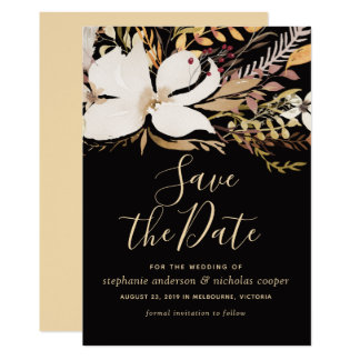 Watercolor floral save the date card