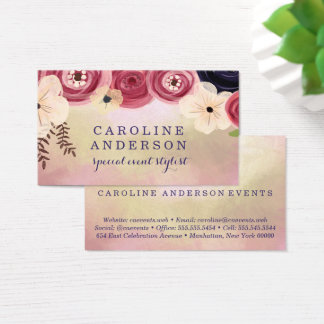 Watercolor Floral | The Spotted Olive | Business Card
