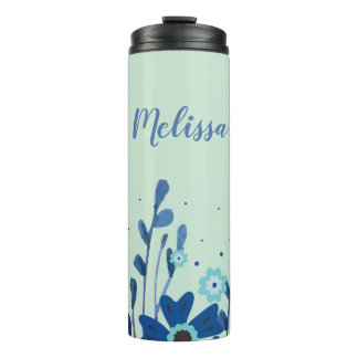 Watercolor Floral Thermal Tumbler
