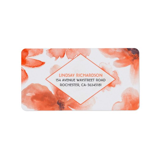 Watercolor Floral Wedding Label