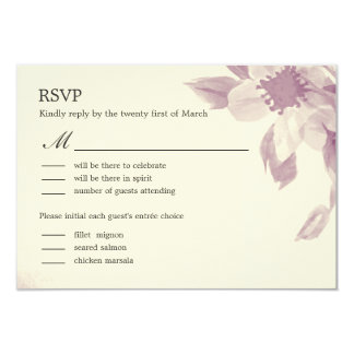 Watercolor Floral Wedding RSVP Card 9 Cm X 13 Cm Invitation Card