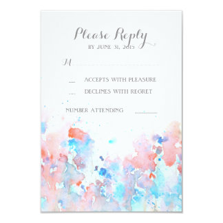Watercolor Floral Wedding RSVP Cards 9 Cm X 13 Cm Invitation Card
