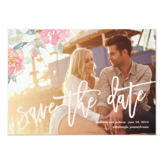 WATERCOLOR FLORAL WEDDING Save the Date Card 13 Cm X 18 Cm Invitation Card